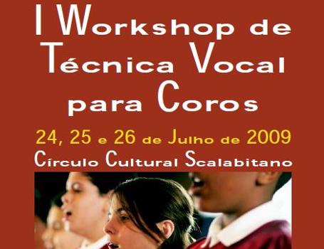 Sobre o I Workshop de Técnica Vocal para Coros
