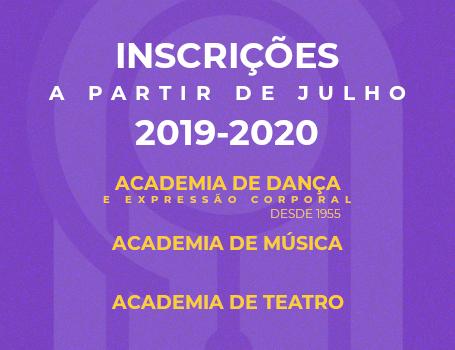 Inscrições ACADEMIAS 2019 | 2020